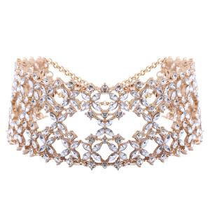 Fashion Luxury Glittering Full Rhinestone Diamond Wild Collar Choker Necklace Jewelry pictures & photos