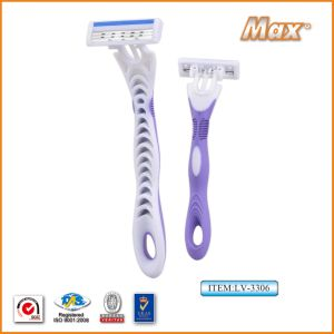 Triple New Stainless Steel Blade Disposable Shaving Razor (LV-3306) pictures & photos
