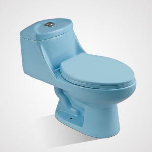 Hot Selling Porcelain Standing Dual Button Blue Toilets for Sale