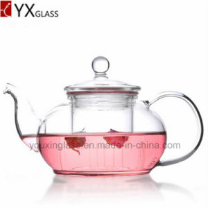 Hot Sales Hand Made Heat Resistant High Borosilicate Exotic Glass Teapot Water Carafe Turkish Flower Booming Tea Kettles pictures & photos