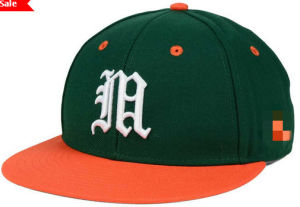Green Orange Cotton 3D Embroidery Snapback Cap Hat Wholesale pictures & photos
