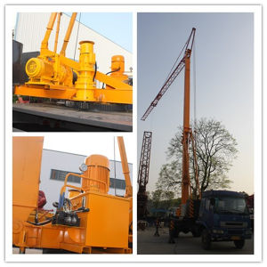 Pully Manufacture Min. 650 Kg Hoisting Load Foldable Mobile Tower Crane (MTC20300) pictures & photos