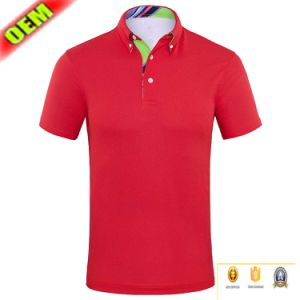 Combed Cotton Yellow Polo T Shirt by OEM Service pictures & photos