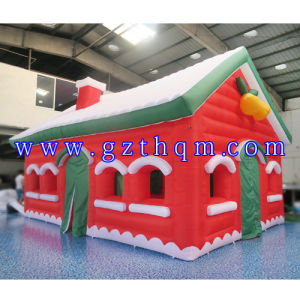Inflatable Christmas Cabin Tent/Inflatable Christmas Snow House pictures & photos