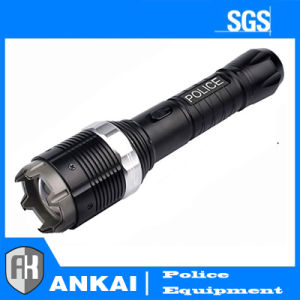 Police Adjustable Focus LED Metal Flashlight Rechargeable Stun Gun pictures & photos