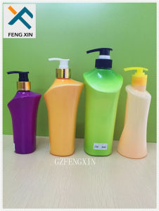 250ml 500ml 800ml Wholesale Plastic Shampoo Shower Gel Colored Liquor Bottle pictures & photos