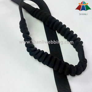 25mm Black Nylon Elastic Webbing for Buffering Use on Safety Products pictures & photos