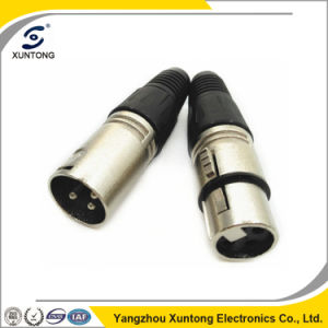 Microphone Cable 3 Pin Male and Female XLR Connector pictures & photos