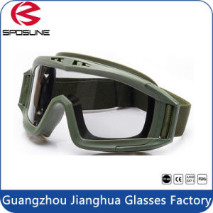 Polycarbonate Shooting Eye Glasses Transparen PC Tactical Glasses Military Goggles pictures & photos
