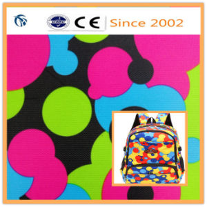400d Wave Point with PVC Coat Fabric for Capacity of Portable Women′s Backpack pictures & photos