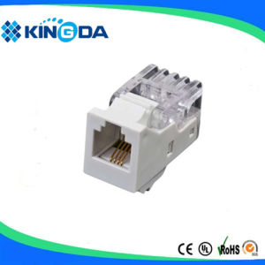 RJ11 UTP cat3 Cat. 3 keystone jack cheap price pictures & photos