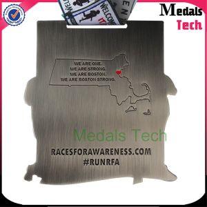 Custom Zinc Alloy Marathon Running Sport Ranked Race Award Medals pictures & photos