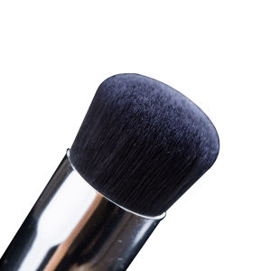 Metallic Handle Flat Synthetic Hair Face Foundation Brush pictures & photos