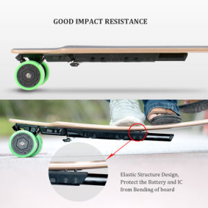 4 Wheels and Dual Hub Motors Electric Skateboard with Remote Control--D3m pictures & photos