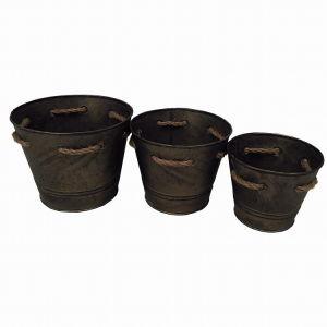 Antique Copper Round Tin Garden Flower Pot pictures & photos