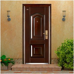 House Gate Design Anti Theft Interior Security Steel Door with Sound Insulation pictures & photos