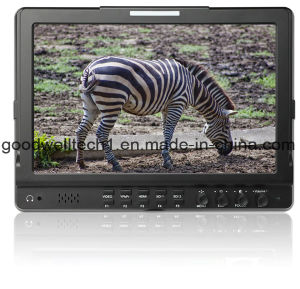 IPS 10.1 Inch LCD Monitor with Dual 3G HD Sdi Input Seamless Switch pictures & photos