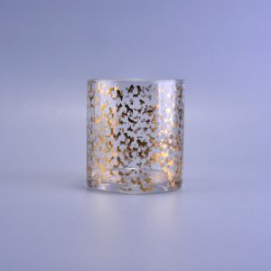 Custom Glass Candle Jars with Gold/Silver Color Finish pictures & photos