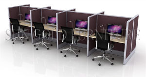 Typical Office Employees Workstation Computer Table Call Center Furniture (SZ-WS690) pictures & photos