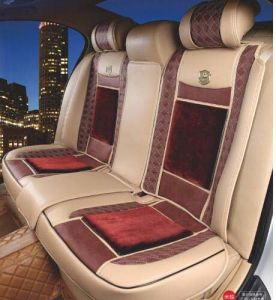 Car Seat Cushion 3D Shape Changeble with Rosewood and Fur-Type Fabric