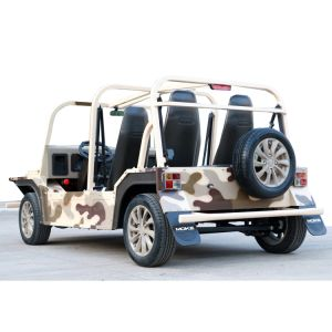Desert Camouflage Electric Tourist Coach Sightseeing Car with 150km Endurance Mileage pictures & photos