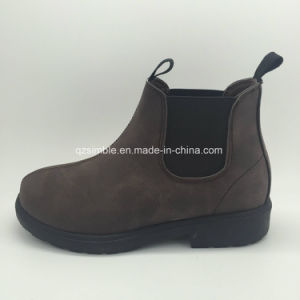 Classical PU Ankle Boots for Children Girls pictures & photos