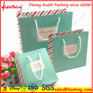 Lamination Customized Cosmetic Paper Gift Bag From China Factory pictures & photos