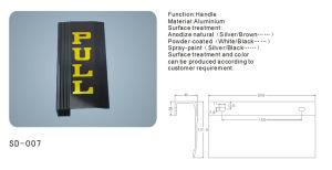 Aluminium Door Handle (SD-007) pictures & photos