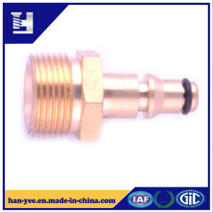 Brass Pipe Connector with Rubber Ring and Milling pictures & photos