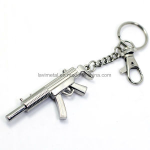Promotion Custom Gun Shape Metal Keychain pictures & photos