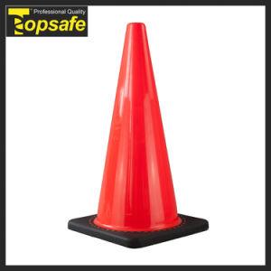 70cm Black Base Interlock PVC Traffic Cone (S-1238) pictures & photos