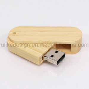 Swivel Wooden USB Flash Drive (UL-W007) pictures & photos