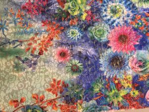 Muti-Color Tulle Printed Lace Fabric for Summer Dress pictures & photos