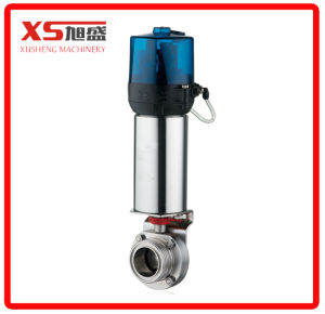 Stainless Steel Ss304 Pneumatic Actuator Triclamp Butterfly Valve (Air to Apring) pictures & photos