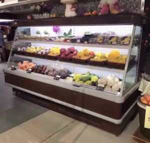Refrigerated Equipment of Supermarket, Open Front Fruit Display Refrigerator pictures & photos
