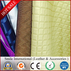 Leather for Furniture Sofa Embossed Flocked Crinkle Printed Washed Mirror PVC Artificial Leather Pattern Leather Rubber pictures & photos