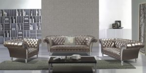 Genuine Leather Sofa for Modern Furniture Chesterfield Leather Sofa 1+2+3 pictures & photos