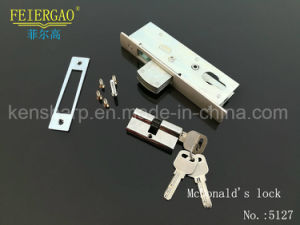 5127 High Class Aluminum Door Lock, Sliding Door Lock/Cylinder Lock pictures & photos