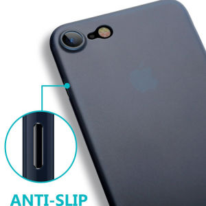iPhone 6 Anti-Slip Thin Skin Semi-Transparent Matte Blue Case pictures & photos