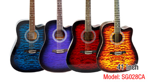 41 Inch Colour Ripple Top Colour Plywood Student Guitar pictures & photos