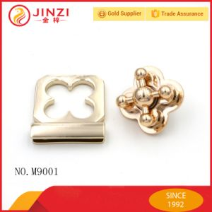 Luxury Gold Metal Cross Twist Lock for Bags/Case pictures & photos