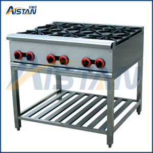 Gh6 Gas Range with 6 Burners of Catering Equipment pictures & photos