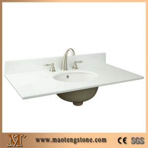 Polished Engineering Customized Nano Glass Stone Vanity Top pictures & photos