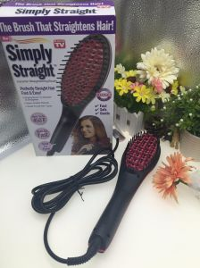 LCD Ceramic Electric Hair Brush Magic Straightening Comb Factory Wholesale pictures & photos