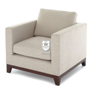 Quality Hotel Single Sofa with Firm Wood Base pictures & photos