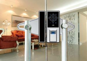 Professional Manufacturer Indoor Fingerprint Glass Door Lock with Handle pictures & photos