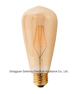 St64 Vintage Edison E26 Bright 85-245V Screw LED Filament Light Bulb pictures & photos