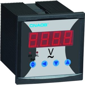 Competitive Price Single Phase Digital Voltmeter with Alarm Size 96*96 AC500V pictures & photos