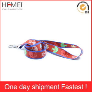 Custom Lanyard Silk Screen Printing Tube Polyester Lanyard Fabric pictures & photos