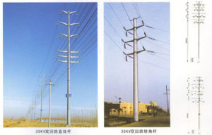 Practical Angle Steel Transmission Line Iron Tower with High Quality pictures & photos